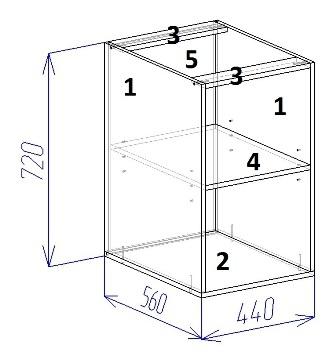 Угловой вариант(кухонный шкаф своими руками)