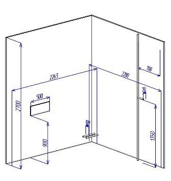 Замер ширины (кухонный шкаф своими руками)