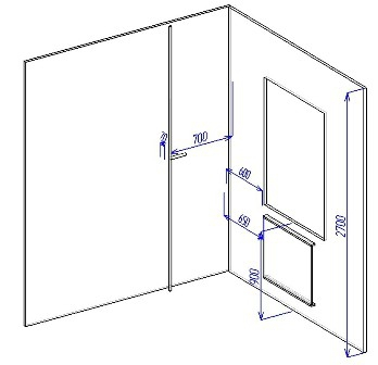 Замер глубины (кухонный шкаф своими руками)