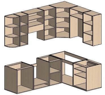 Г-образная форма (кухонный шкаф своими руками)
