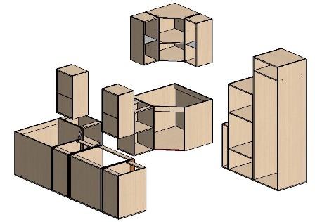 П-образная форма (кухонный шкаф своими руками)
