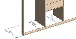 Глубина встроенного шкафа купе