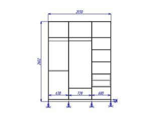 Корпусный шкаф купе (вид спереди)