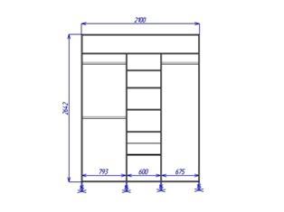 Встроенный шкаф купе (вид спереди)