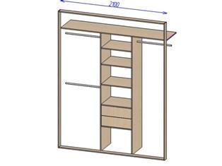 Вариант 1 — встроенный шкаф купе своими руками (фото)