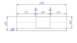 Встроенный шкаф купе (вид сверху)